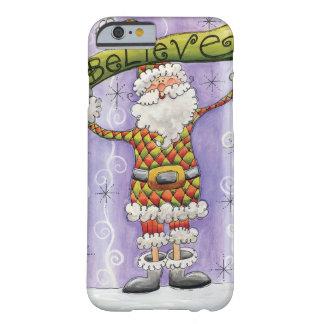 Niedliches Cartoon-Weihnachten, glaube ich an Barely There iPhone 6 Hülle