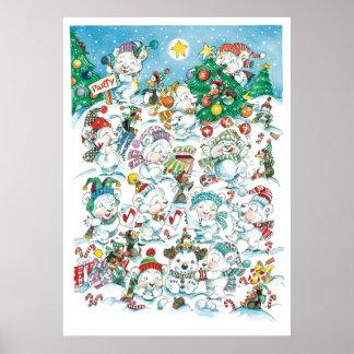 Niedliches Cartoon-Weihnachtspolarer Poster