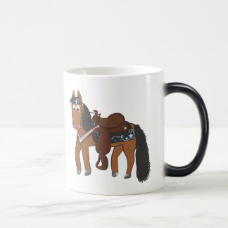 Niedliches Cartoon-Western-Pferd Verwandlungstasse