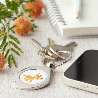 Niedliches Cartoondingo-Metall Keychain Schlüsselanhänger