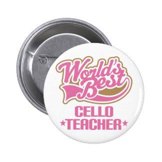 Niedliches Cello-Lehrer-Geschenk Button
