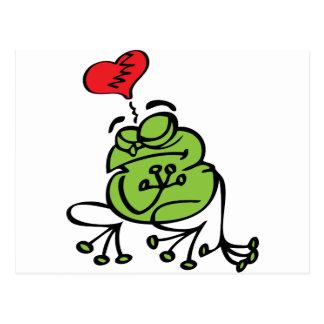 Niedliches defektes Herz, Antifrosch des Postkarte