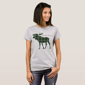 Niedliches die Kap-Breton-Insel Elche Tartan-Shirt T-Shirt