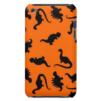 Niedliches Dinosaurier-Muster auf Orange Case-Mate iPod Touch Hülle