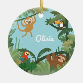 Niedliches Dschungel-Thema-Kinderzimmer-dekorative Keramik Ornament
