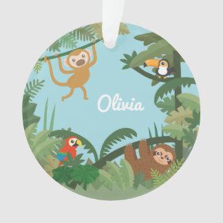 Niedliches Dschungel-Thema-Kinderzimmer-dekorative Ornament