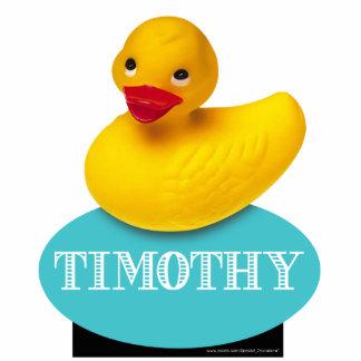 Niedliches Ducky | Babygummiblau Freistehende Fotoskulptur