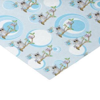 Niedliches Duschen-Thema der blaues Baby-Eulen-| Seidenpapier