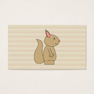 Niedliches Eichhörnchen, beige Visitenkarte