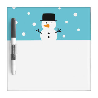 Niedliches einfaches Snowman-Weihnachtsweißes Memoboard