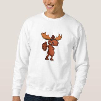 Niedliches Elch-Cartoonwellenartig bewegen Sweatshirt