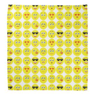 Niedliches Emoji Muster Kopftuch