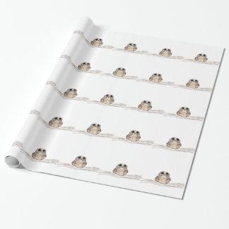 Niedliches Eulen-Verpackungs-Papier Geschenkpapier