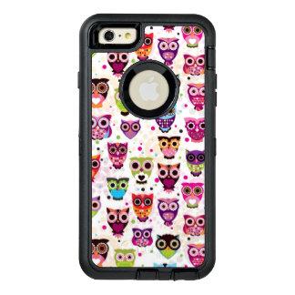 Niedliches Eulenhintergrundmuster für Kinder OtterBox iPhone 6/6s Plus Hülle