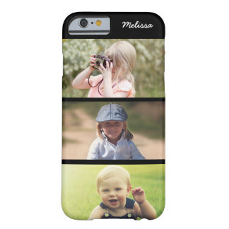 Niedliches Fall 3 Foto-personalisierter KindiPhone Barely There iPhone 6 Hülle