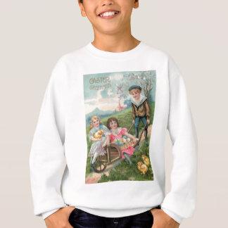 Niedliches farbiges Ei Kinderostern Küken Sweatshirt