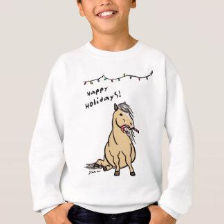 Niedliches Feiertags-Pony Sweatshirt