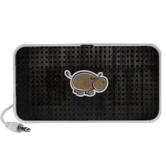 Niedliches Flusspferd; Cool Mobiler Speaker