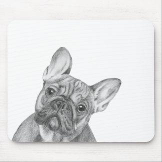 Niedliches französische Bulldogge mousemat Mousepad