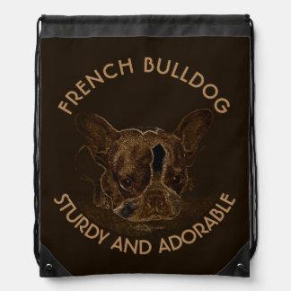 Niedliches französische Bulldoggen-abstraktes Sportbeutel