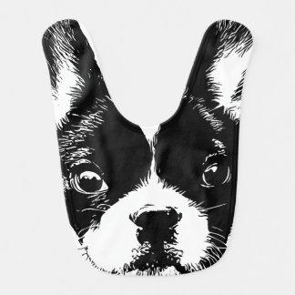Niedliches französische Bulldoggen-Hundegesicht Lätzchen