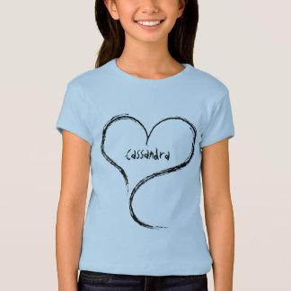 Niedliches freeform Herz für Ihre Namenskinder T-Shirt