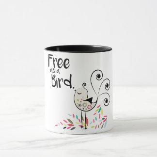 Niedliches freies als Vogel-Kaffee-Tasse Tasse