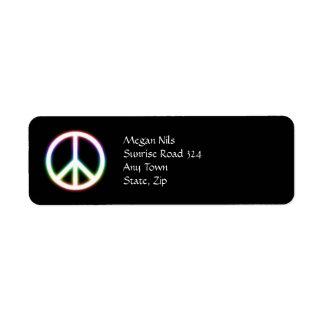 Niedliches Friedenssymbol Kleiner Adressaufkleber
