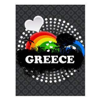 Niedliches fruchtiges Griechenland Postkarte