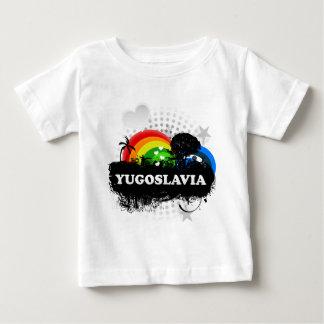 Niedliches fruchtiges Jugoslawien Baby T-shirt