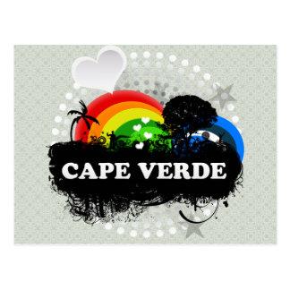 Niedliches fruchtiges Kap-Verde Postkarte