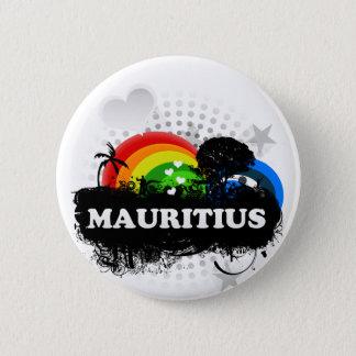 Niedliches fruchtiges Mauritius Runder Button 5,7 Cm