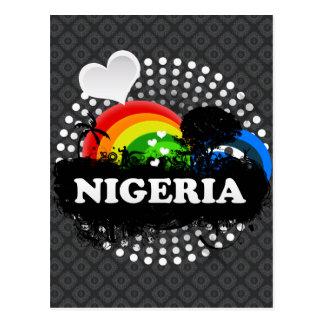 Niedliches fruchtiges Nigeria Postkarte