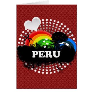 Niedliches fruchtiges Peru Grußkarte