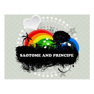 Niedliches fruchtiges Sao Tome und Principe Postkarte