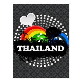 Niedliches fruchtiges Thailand Postkarte