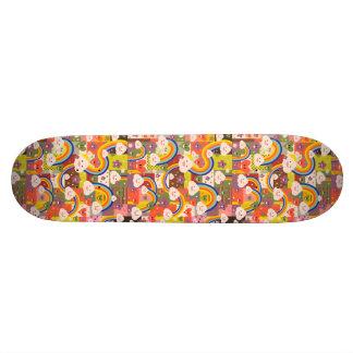 Niedliches funky harajuku Illustrationsmuster Bedruckte Skateboarddecks