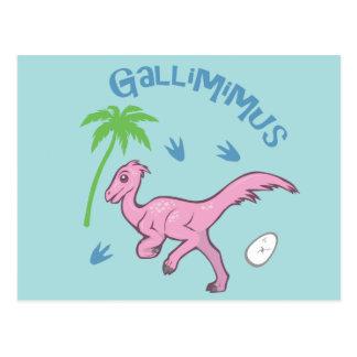 Niedliches Gallimimus Postkarte