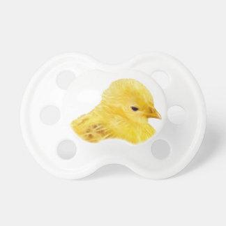 Niedliches gelbes Baby Küken Schnuller