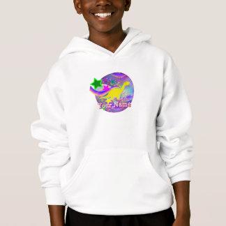 Niedliches gelbes Dinosaurier-Sweatshirt Hoodie