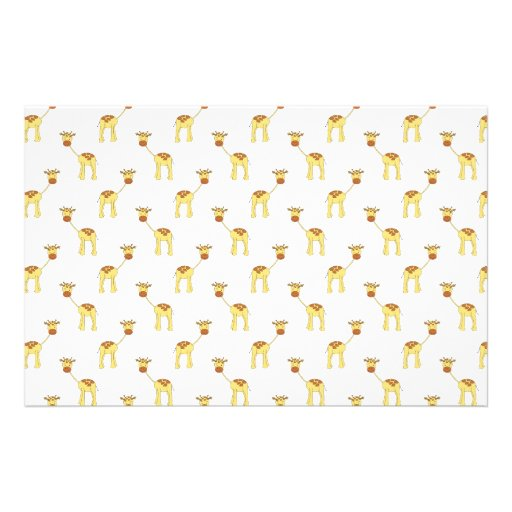 Niedliches Giraffen-Muster Personalisierte Büropapiere