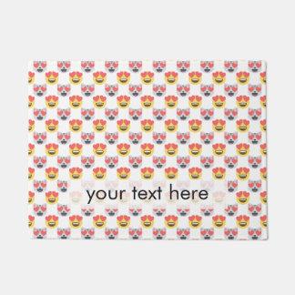 Niedliches Girly In-Liebe Herz-Katze Emoji Muster Türmatte