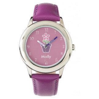 Niedliches Girly Monogramm Uhren