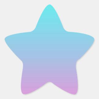 niedliches girly ombre Stern-Aufkleber