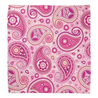 Niedliches girly rosa elegantes Paisley-Musters Kopftuch