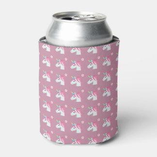 Niedliches Girly rosa Unicorn-Blume Emoji Muster Dosenkühler