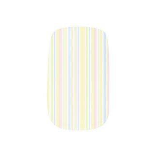 Niedliches Girly vertikaler Streifen-Pastellmuster Minx Nagelkunst
