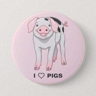 Niedliches Gloucestershire altes Stellen-Schwein Runder Button 7,6 Cm
