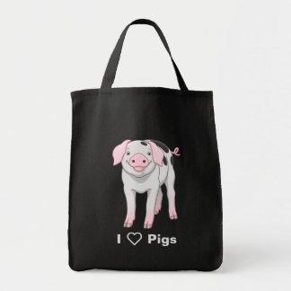 Niedliches Gloucestershire altes Stellen-Schwein Tragetasche