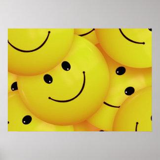 Niedliches glückliches Gesichts-Plakat Poster